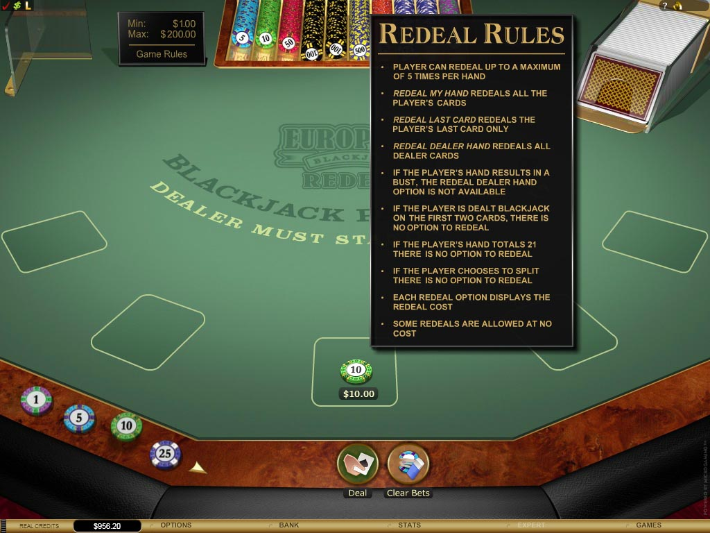 Another Casino New Release: Redeal Blackjack!