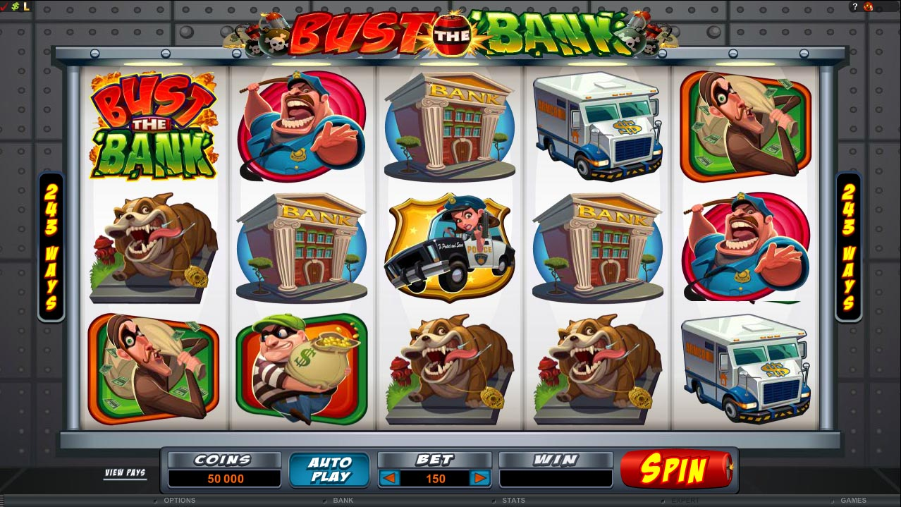 Bust the Bank – New in Microgaming Casinos from May 8th!
