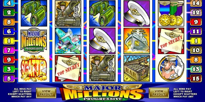 Major Millions Progressive Video Slot