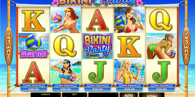 Join Five Beach Volleyball Babes On The New Bikini Party Slot